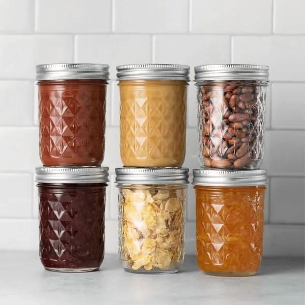 ball regular mouth mason jars 8 oz 12