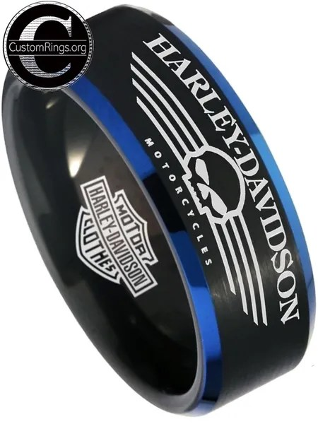 Harley Davidson Jewelry Rings : harley, davidson, jewelry, rings, Harley, Davidson, Men's, Black, Wedding, Harleydavidson