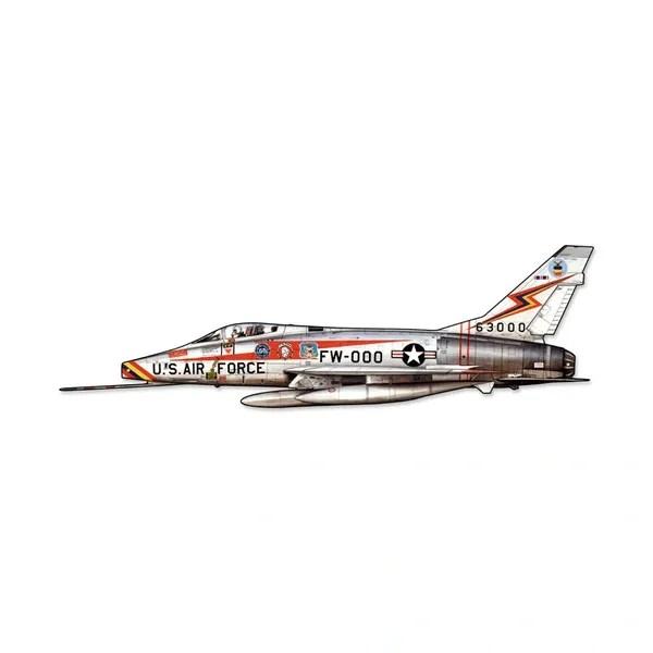 North American Aviation F-100 Super Sabre Cutout Metal