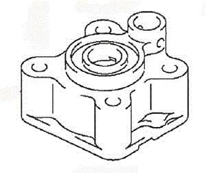 Suzuki Outboard Parts Water Pump Case (17411-94J00