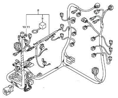 Suzuki Outboard Parts, Wiring Harness (36610-93JN1