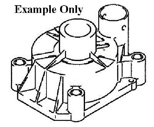 Suzuki Outboard Parts Water Pump Case (17411-93901