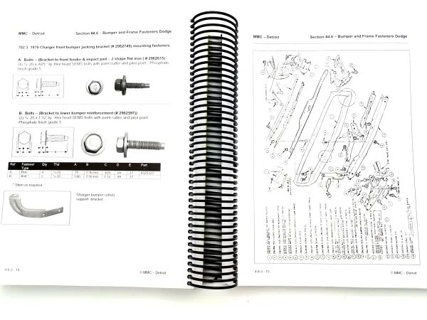 B Body Dodge 1968-70 Reference Manual. Guide to Fasteners