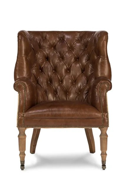 Tufted Wingback Armchair Leather Amp Jute Martelle