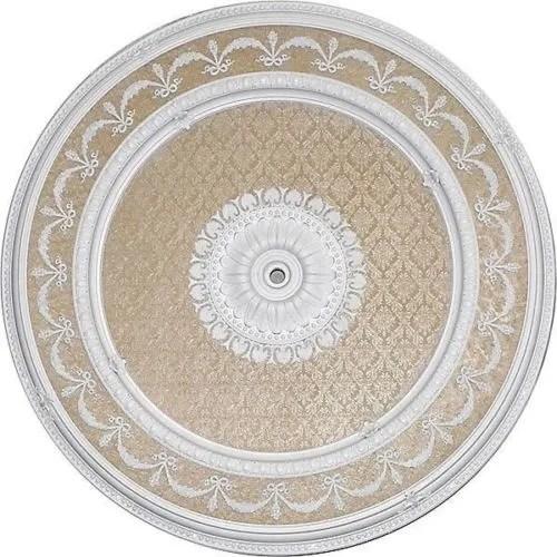 Garland Ceiling Medallion Round White Martelle