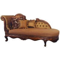 Italian Chaise Lounge Chair Mahogany Finish | Martelle
