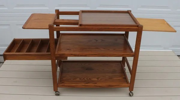 oak kitchen cart tall garbage bags with cutting board the jolly pack rat