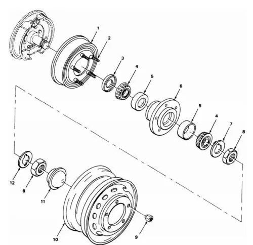 M416 PLAIN ENCASED OIL SEAL FOR HUB AND DRUM ASSEMBLY