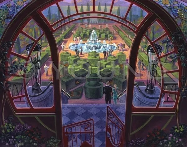 garden party 22x28 print