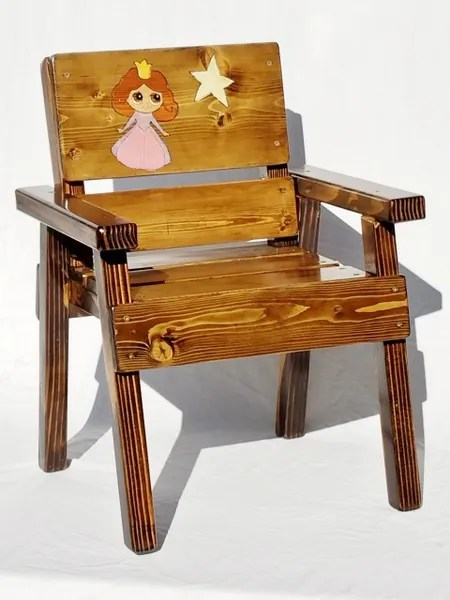chair for toddler girl gold vanity princess gift kids outdoor wood furniture solid