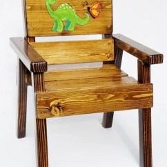 Wooden Chair With Arms For Toddler Mamas And Papas Tray Kids Outdoor Furniture Wood Boy Girl Dinosaur Solid Gift