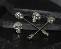 SKULL TIE TACK OR LAPEL PIN | Alfred Albrizio Inc ...