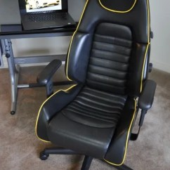 Ferrari Office Chair Threshold Windsor Dining Black Sold Thank You 360 Spider Leather With Yellow Piping