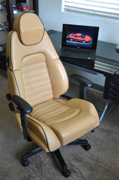 ferrari office chair linen dining room slip covers sold thank you 360 leather beige with black piping driver seat originals