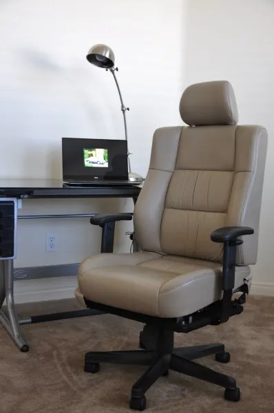 ivory leather office chair thomasville and ottoman lexus es300 manager racing driver seat originals