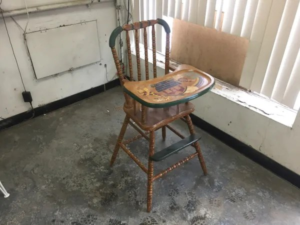 vintage wood high chair covers office 1960 s wooden faithful classics