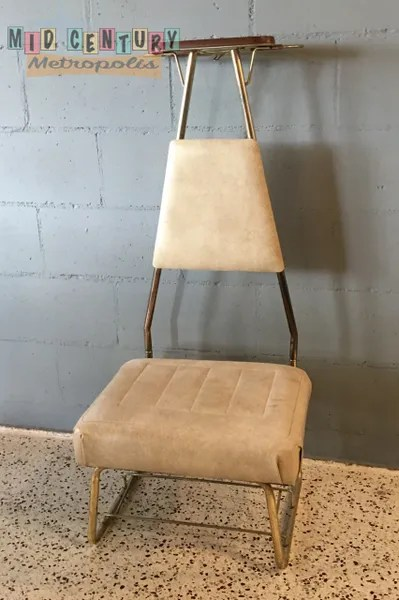 mens valet chair teal side sold mid century modern by pearl wick corp metropolis