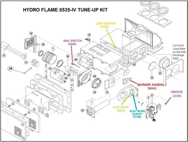 hydro flame furnace wiring diagram mobile home electrical atwood model 8535 iv parts pdxrvwholesale