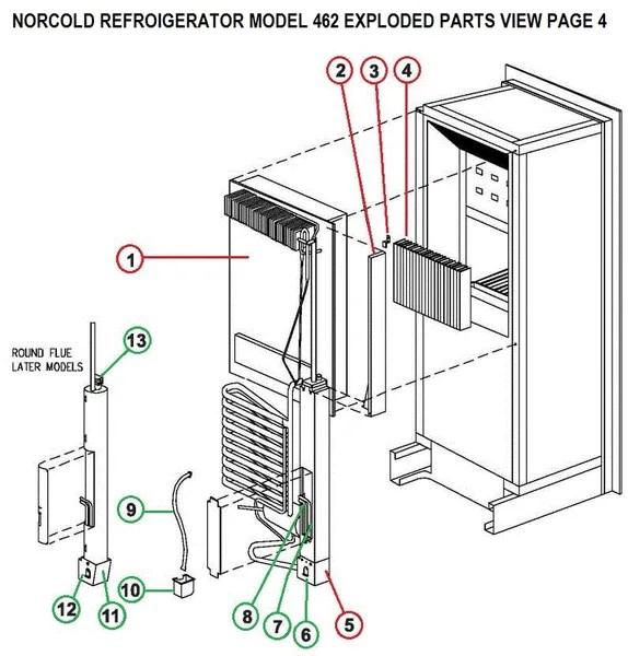 Norcold Refrigerator Model 462 Heat Element Tune-Up Kits