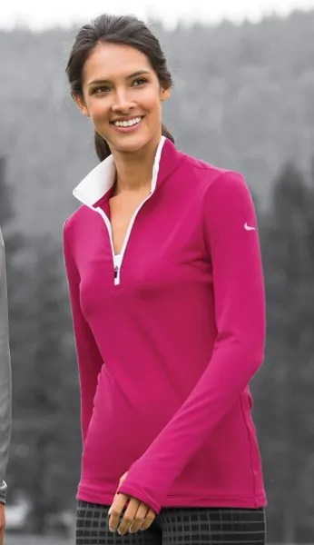 Nike Ladies DriFIT Stretch 12Zip CoverUp 779796  Hi Visibility Jackets  Chef Works