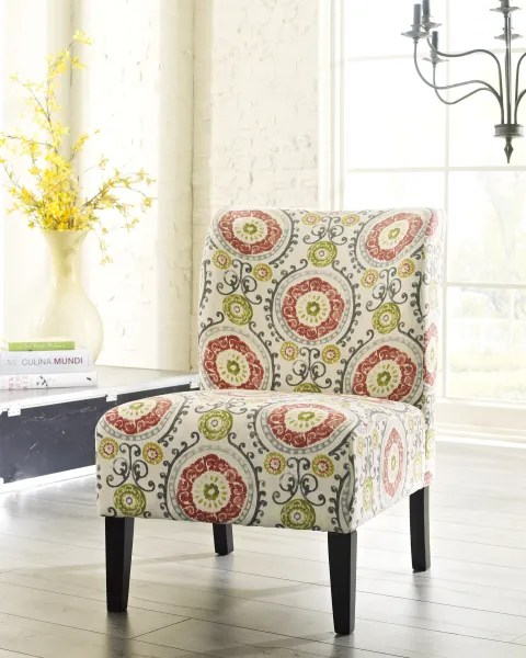 floral print accent chairs lounge chair covers australia ashley furniture 53302 honnally factory direct bedding and