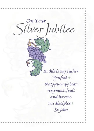 CE321 SILVER JUBILEE 25 YEARS Life Greetings Catholic