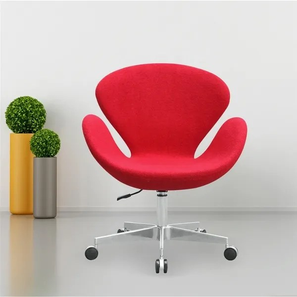 arne jacobsen swan chair desk for back pain red w casters take 1 designs mid style with