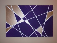 Geometric Wall Art DIY | Wandering
