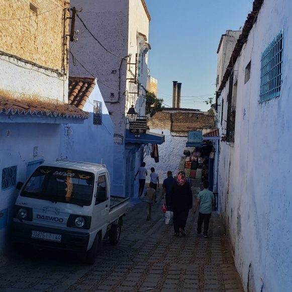 Chefchaouen Morocco parking