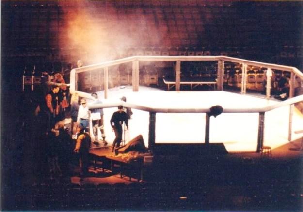 1st setup of Octagon 11-10-93  Photo credit A. Davie