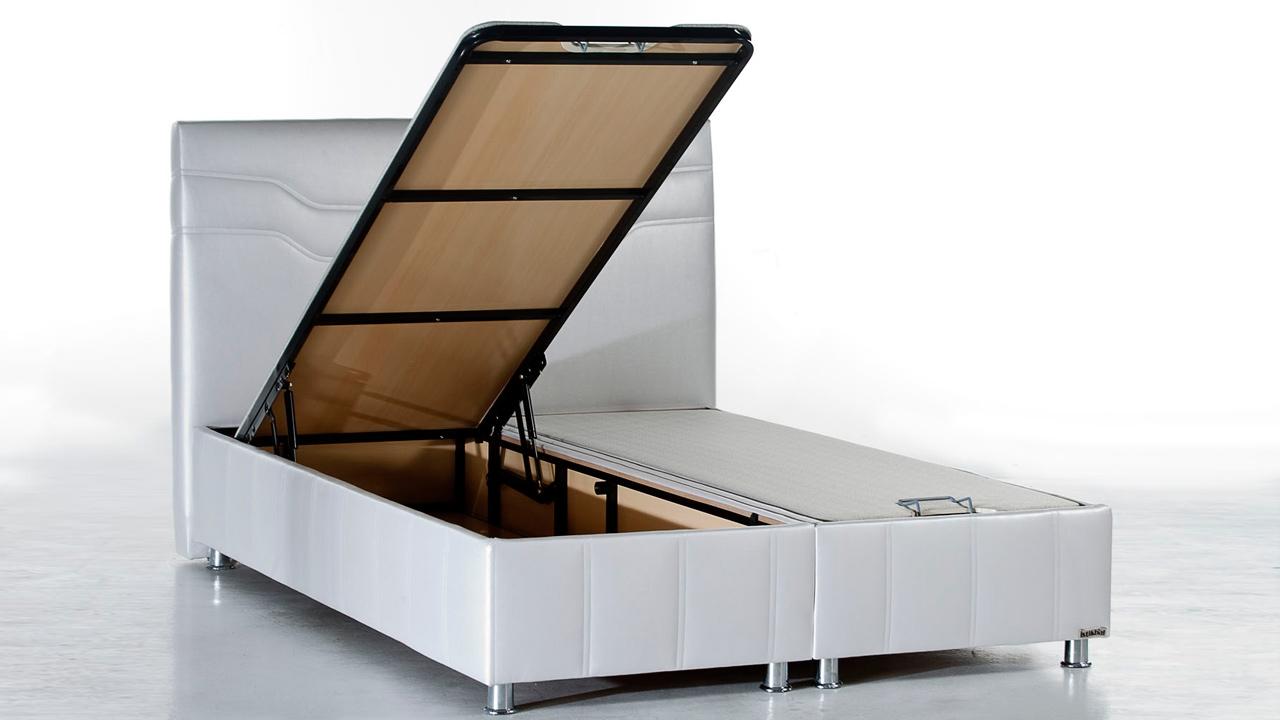 Ferro Seng Med Opbevaring 120x200 Cm Basic Furniture Aps
