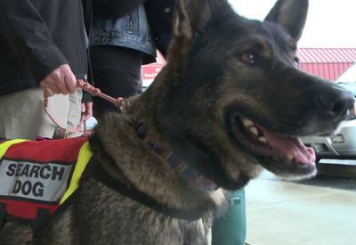 man donates leg to cadaver dog
