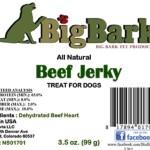 RECALL ALERT: Big Bark All Natural Beef Jerky Treats