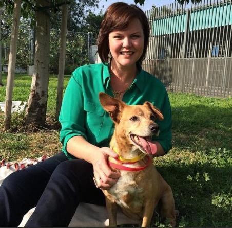 rachel dably adopts dog rescued from L.A. River