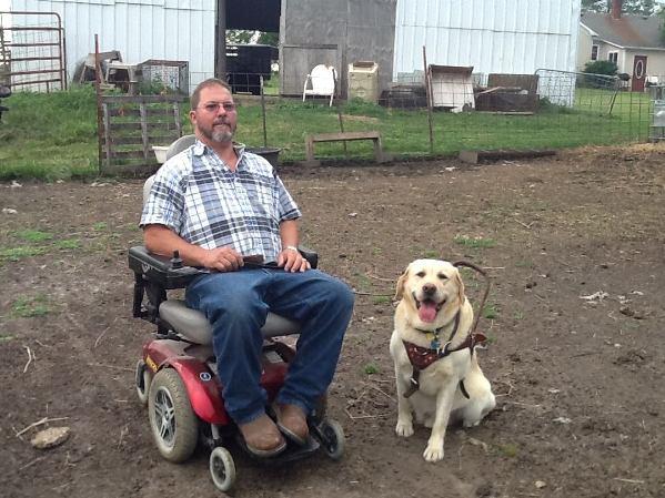 PHARM Dog USA Odie and farmer Bruce Trammell