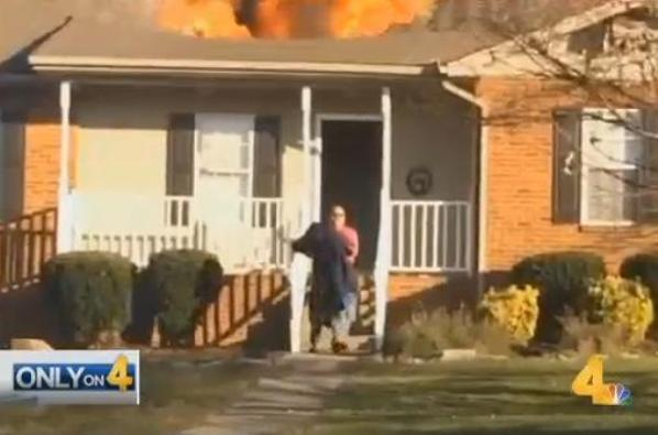 mystery hero saves dog from house fire