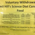 WITHDRAWAL ALERT: Hill's Science Diet Canned Dog Food
