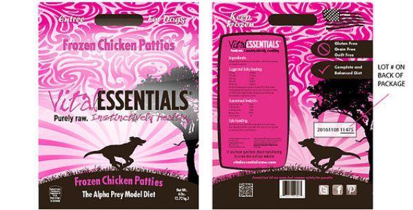Vital Essentials Frozen Chicken Patties recall
