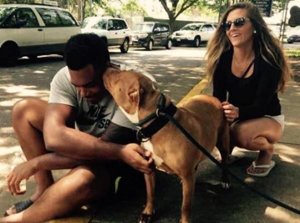 Ronnie Stanley of the Baltimore Ravens asks for not-so-adoptable dog