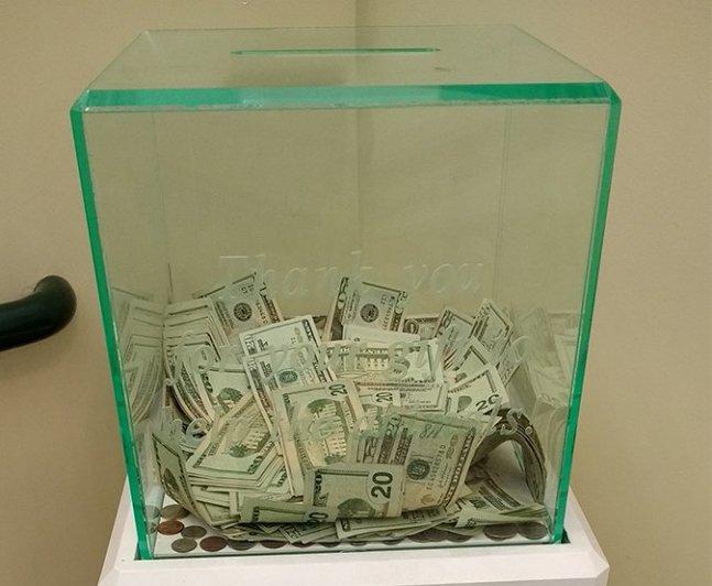 cash donation of $8,000 to Pasadena Humane Society