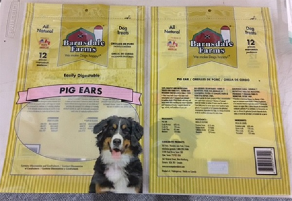 Barnsdale Farms Pig's Ears Recall