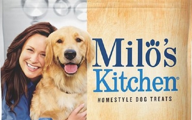 Milo's Kitchen recalled dog treat package