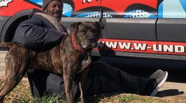 Homeless man rescues animals from shelter fire