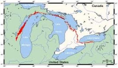 Эта осадочная формация охватывает значительную часть Северной Америки
