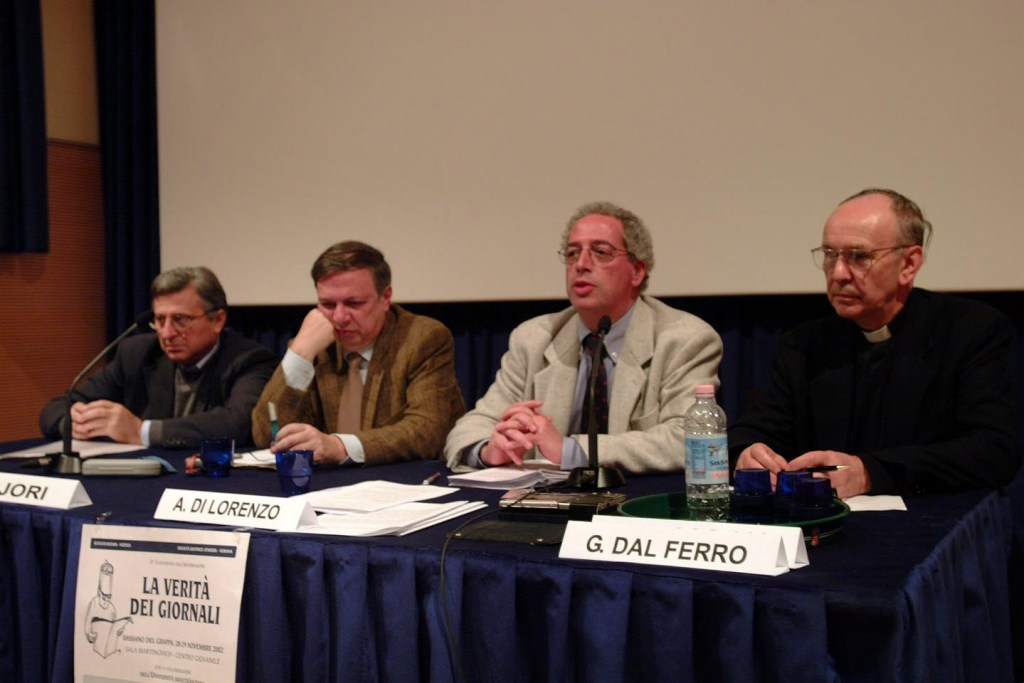"""Relatori della conferenza sull'informazione """"La verità dei giornali"""" (2002)"""