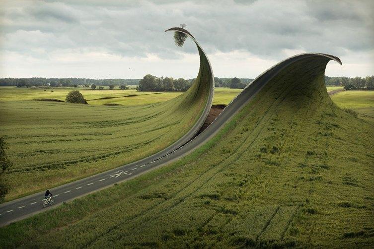 cut-fold-road