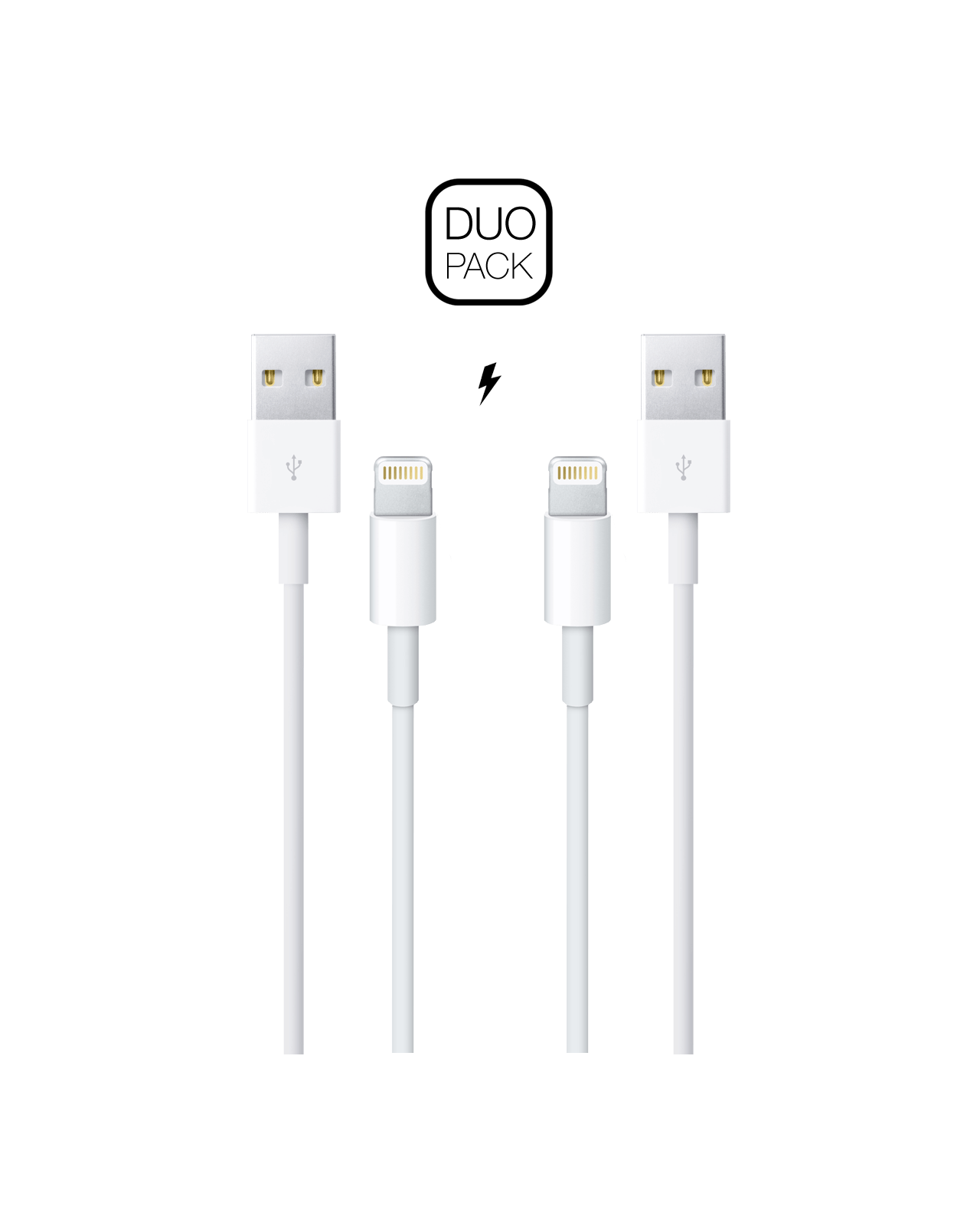 [DUO PACK] Lightning to USB Cable (1m)
