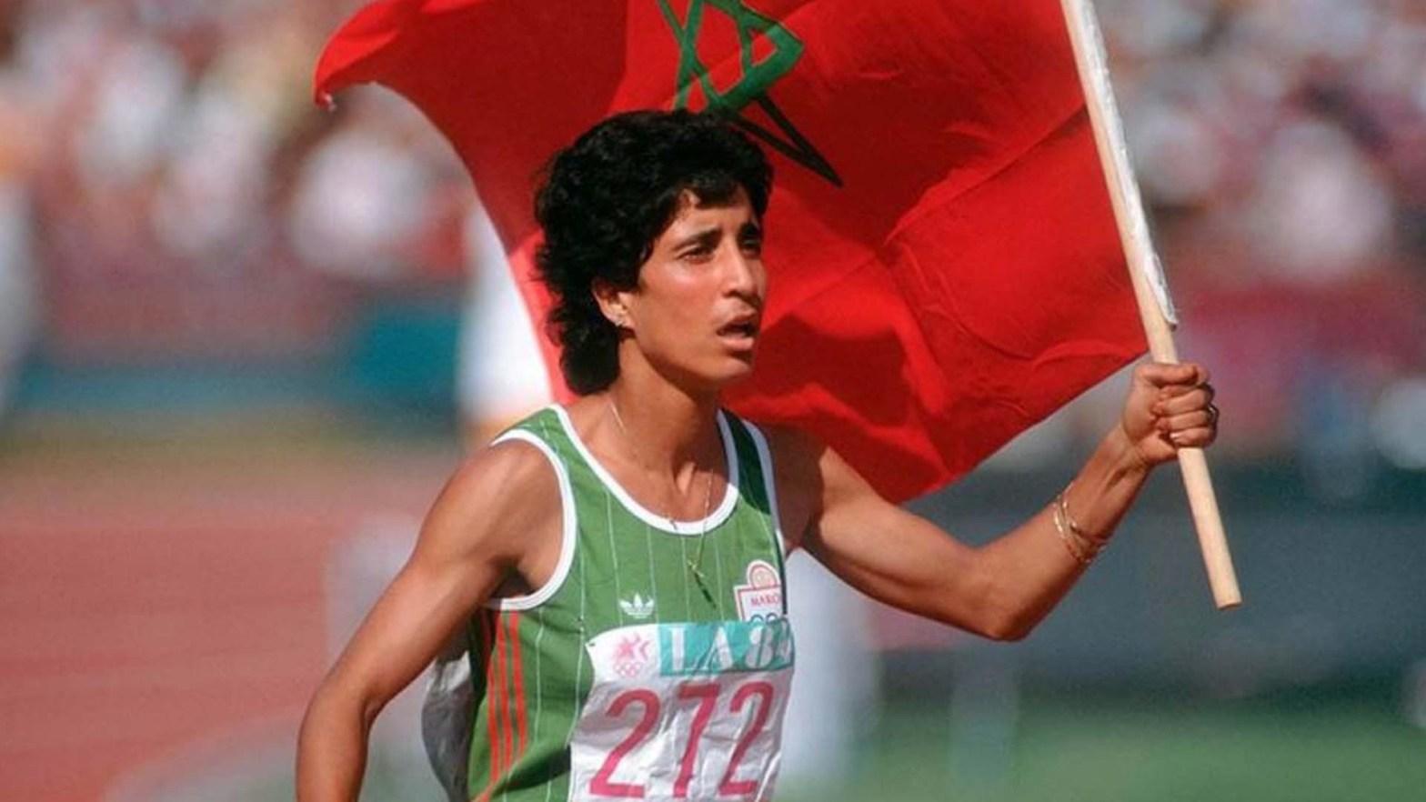 Nawal el Moutawakel alle Olimpiadi di Los Angeles 1984