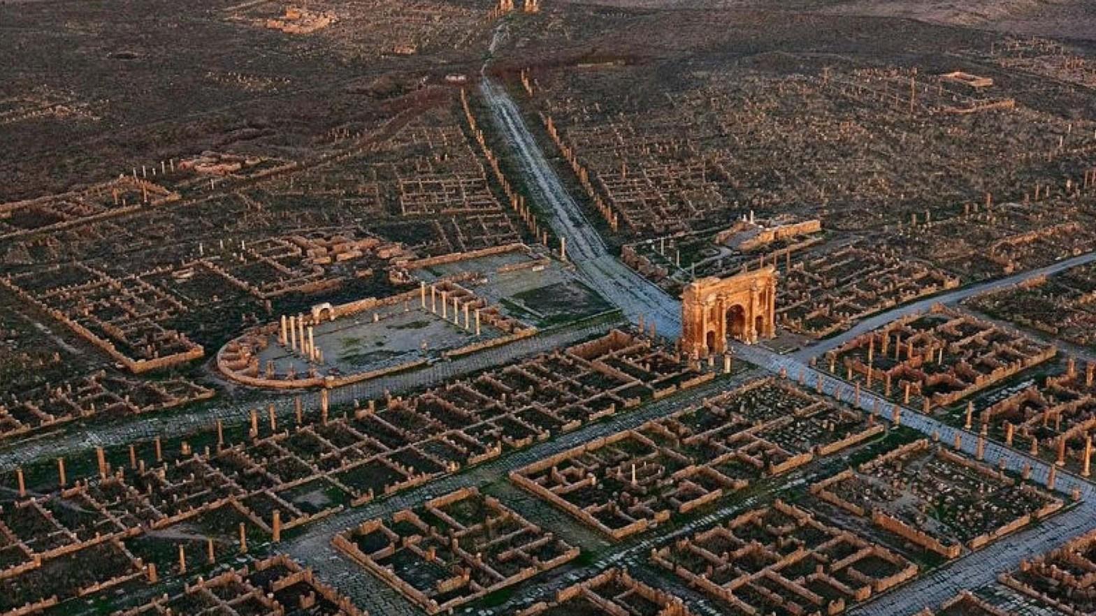 La città romana di Timgad in Algeria