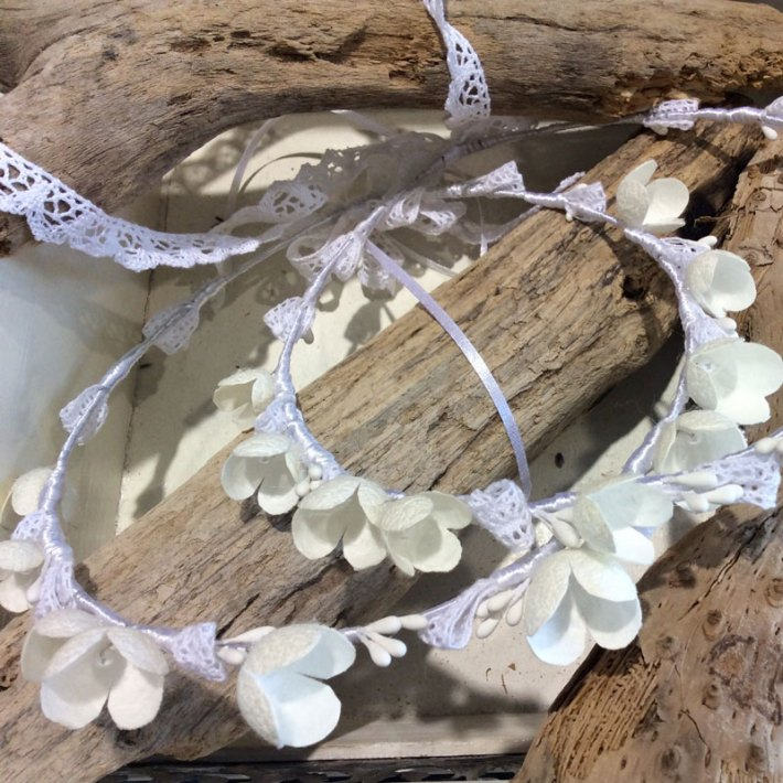 Silver plated decorated from silk cocoon and sweet water pearls